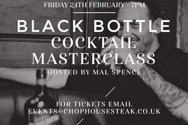 Mal Spence presents a Black Bottle Cocktail Masterclass